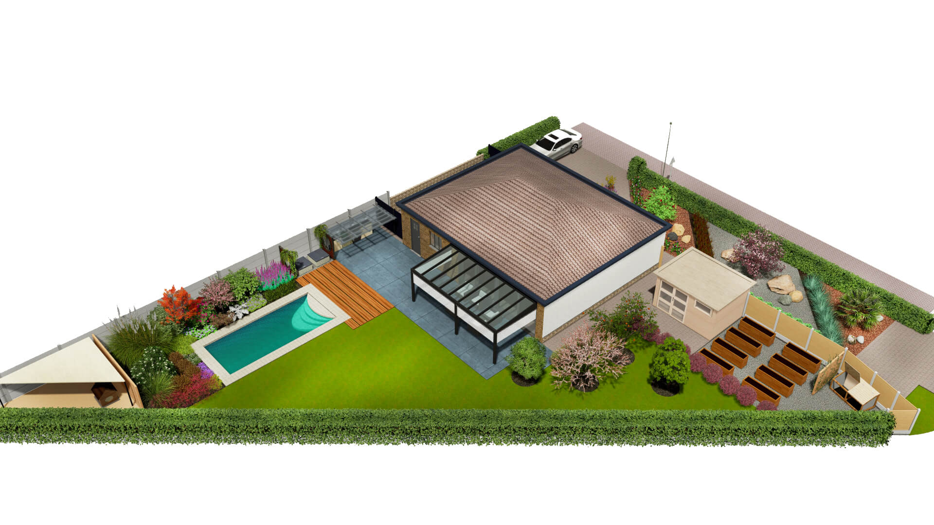 Diseño del jardín en Bélgica