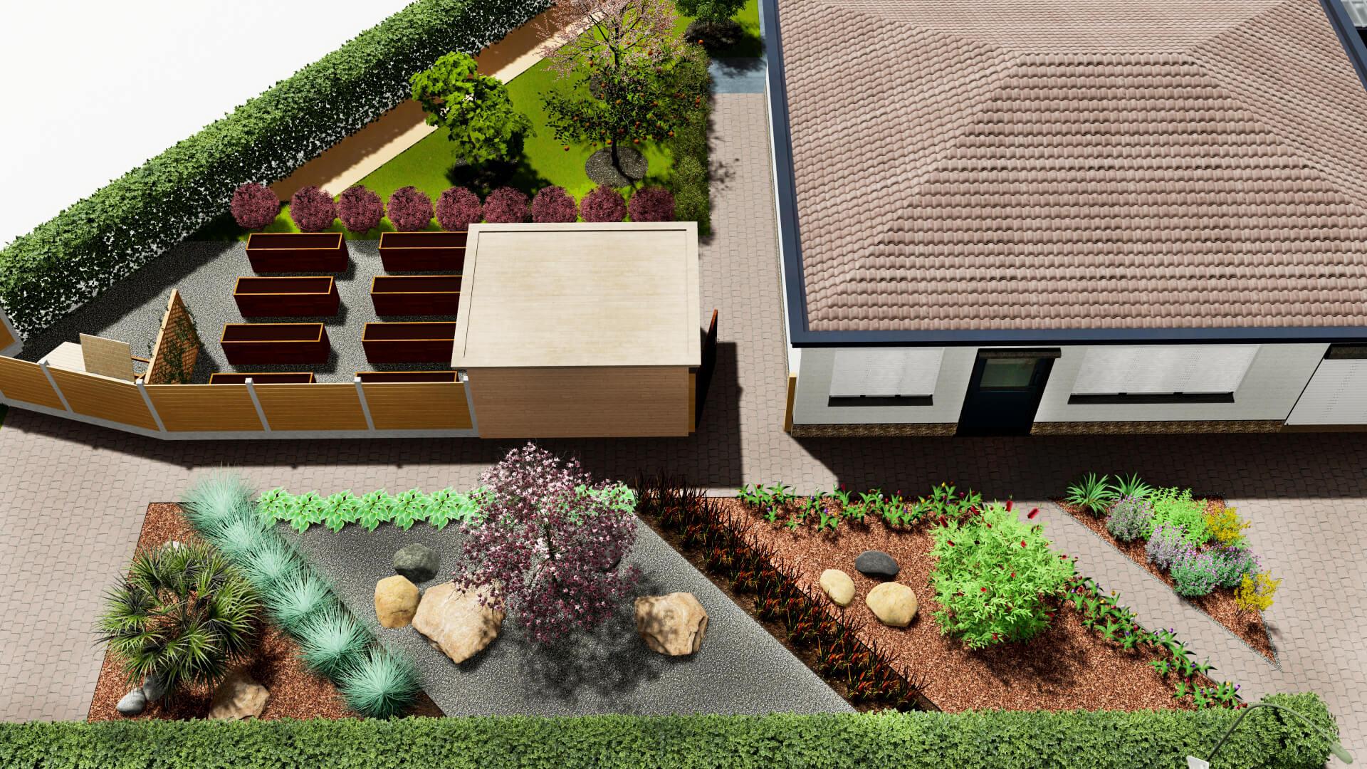 Jardín frente de la casa