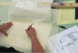 калька и чертежи